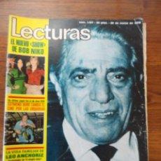 Coleccionismo de Revistas: REVISTA LECTURAS MUERTE ONASSIS 1975 (BOB NIKO,ROMY SCHNEIDER,MARISOL,MANOLO OTERO,POSTER CHARLOT..). Lote 56370641