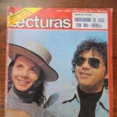 Coleccionismo de Revistas: REVISTA LECTURAS VICTORIA ABRIL 1977 (TORREBRUNO,MICKY,LA LA LA,POSTER MARK SHERA,LARRAÑAGA,...). Lote 56370718