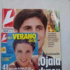 Coleccionismo de Revistas: REVISTA LECTURAS. EL TORERO ILUSIONADO-OJALA ESTO DURE. Nº 2735. AGOSTO 2004. Lote 56596855