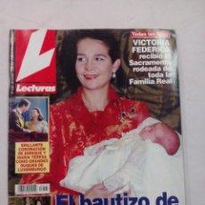 Coleccionismo de Revistas: REVISTA LECTURAS. EL BAUTIZO DE LA NIÑA. Nº 2533. SEPTIEMBRE 2000. Lote 56597897
