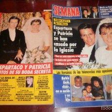 Coleccionismo de Revistas: REVISTAS DEL CORAZÓN. BODA ESPARTACO Y PATRICIA. SEMANA Nº 2697 23-10-1991, LECTURAS Nº 2064 DÍA 25. Lote 56889718