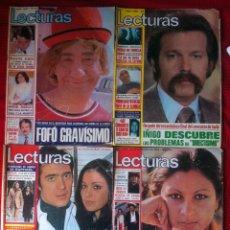 Coleccionismo de Revistas: LOTE REVISTA LECTURAS 1976 (4 NUMEROS - LOLITA, IÑIGO, FOFO...). Lote 26699676
