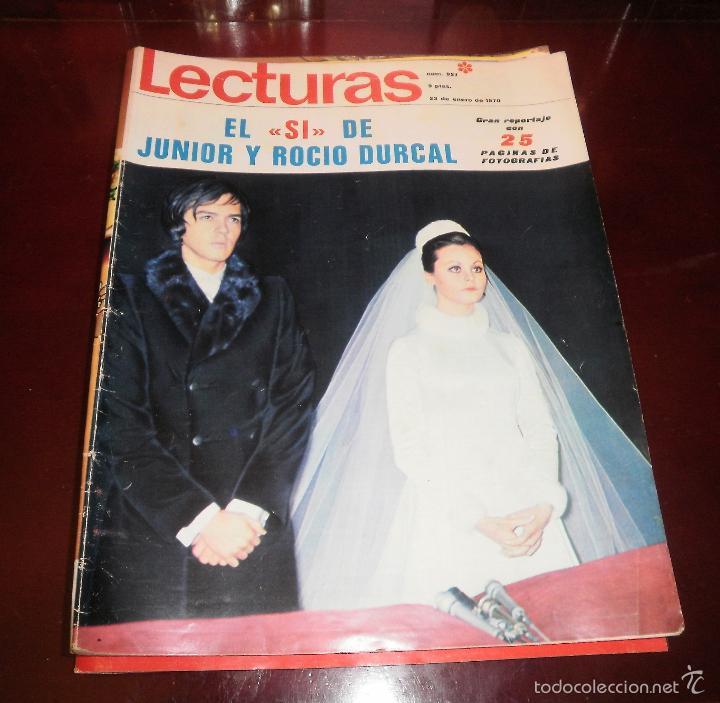Coleccionismo de Revistas: Revistas del corazón. Rocío Dúrcal, boda, muerte y boda de Shaila (Lecturas, Semana y Hola) - Foto 2 - 57565825