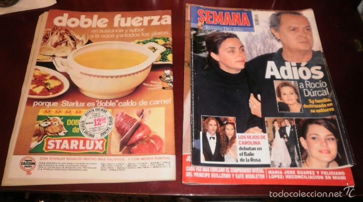 Coleccionismo de Revistas: Revistas del corazón. Rocío Dúrcal, boda, muerte y boda de Shaila (Lecturas, Semana y Hola) - Foto 3 - 57565825