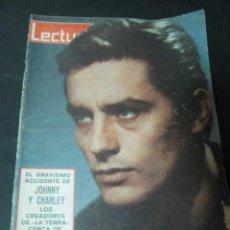 Coleccionismo de Revistas: REVISTA LECTURAS MARZO 1963 ALAIN DELON POLEMICA MARISOL POR CORTE DE PELO EN PARIS . Lote 58432704