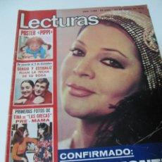 Coleccionismo de Revistas: REVISTA LECTURAS 1/1975 SARA MONTIEL SERGIO Y ESTIBALIZ VALENTIN TORNOS RAPHAEL VICTORIA VERA GRECAS. Lote 58491035
