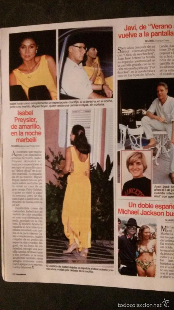 Lola Y Javi Lo Hacen En El Bano.Lecturas 1994 Chabeli Iglesias Lydia Bosch Este Sold