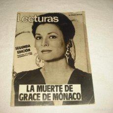 Coleccionismo de Revistas: LECTURAS N° 1588 , SEPTIEMBRE 1982. LA MUERTE DE GRACE DE MONACO. Lote 60201731