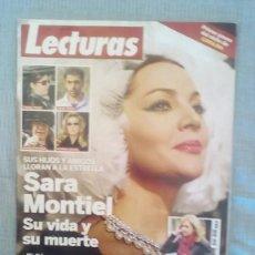 Coleccionismo de Revistas: SARA MONTIEL SU VIDA Y SU MUERTE LECTURAS. Lote 60717927