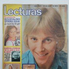 Coleccionismo de Revistas: REVISTA LECTURAS ENERO 1976 / POSTER DANNY DANIEL.. Lote 61276218