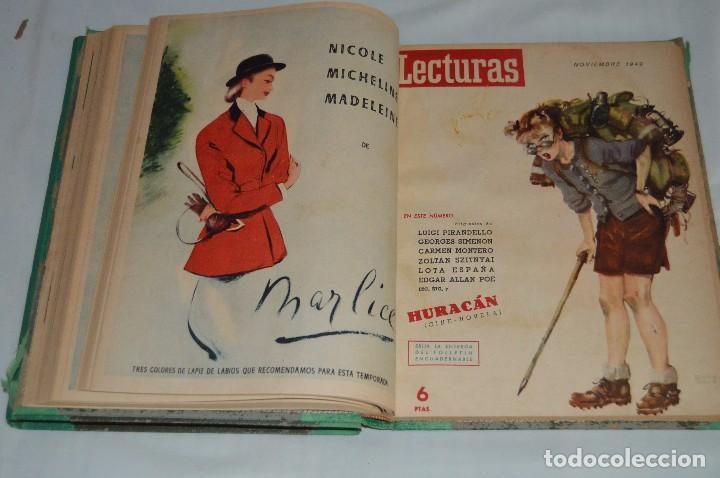 REVISTA LECTURAS - AÑO COMPLETO - 1949 - DOS TOMOS - MUY ANTIGUO - MIRA LAS FOTOS (Coleccionismo - Revistas y Periódicos Modernos (a partir de 1.940) - Revista Lecturas)