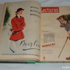 Coleccionismo de Revistas: REVISTA LECTURAS - AÑO COMPLETO - 1949 - DOS TOMOS - MUY ANTIGUO - MIRA LAS FOTOS. Lote 64458967