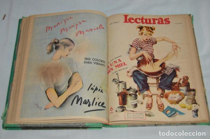 Coleccionismo de Revistas: REVISTA LECTURAS - AÑO COMPLETO - 1949 - DOS TOMOS - MUY ANTIGUO - MIRA LAS FOTOS - Foto 2 - 64458967