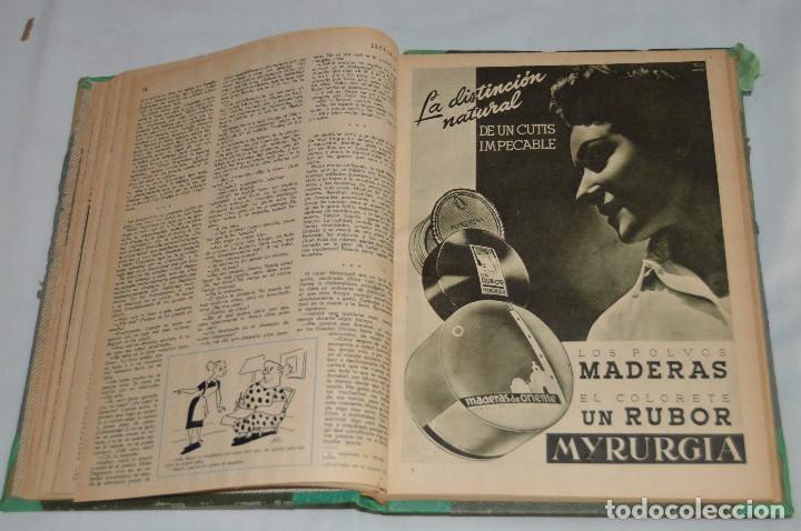 Coleccionismo de Revistas: REVISTA LECTURAS - AÑO COMPLETO - 1949 - DOS TOMOS - MUY ANTIGUO - MIRA LAS FOTOS - Foto 5 - 64458967