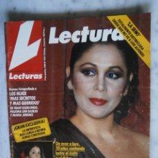 Coleccionismo de Revistas: LECTURAS - ISABEL PANTOJA - MARIA EUGENIA MARTINEZ DE IRUJO - TINA SAINZ - CLAUDIA CARDINALE. Lote 66255746