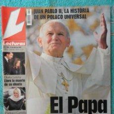 Coleccionismo de Revistas: REVISTA LECTURAS Nº 2768 -AÑO 2005 -EL PAPA EMPRENDE SU ULTIMO VIAJE -ALBERTO DE MONACO - MOTOS. Lote 67544693
