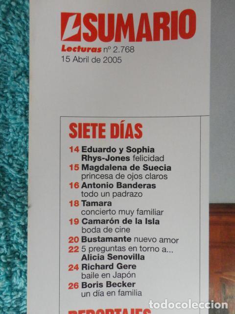 Coleccionismo de Revistas: REVISTA LECTURAS Nº 2768 -AÑO 2005 -EL PAPA EMPRENDE SU ULTIMO VIAJE -ALBERTO DE MONACO - MOTOS - Foto 2 - 67544693