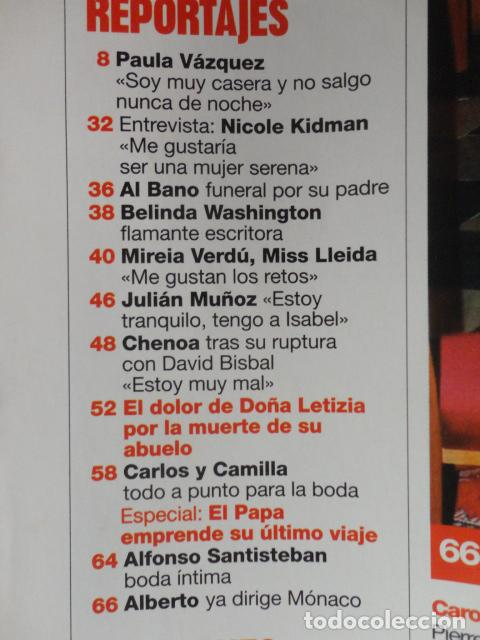 Coleccionismo de Revistas: REVISTA LECTURAS Nº 2768 -AÑO 2005 -EL PAPA EMPRENDE SU ULTIMO VIAJE -ALBERTO DE MONACO - MOTOS - Foto 3 - 67544693