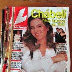 Coleccionismo de Revistas: LOTE 7 REVISTAS LECTURAS 2180, 2219, 2234, 2186, 2185, 2183 Y 2096. USADAS.. Lote 67685649
