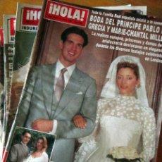 Coleccionismo de Revistas: LOTE 8 REVISTAS HOLA! 2657, 2579, 2583, 2582, 2514, 2652, 2604 Y 2602. USADAS.. Lote 67690149
