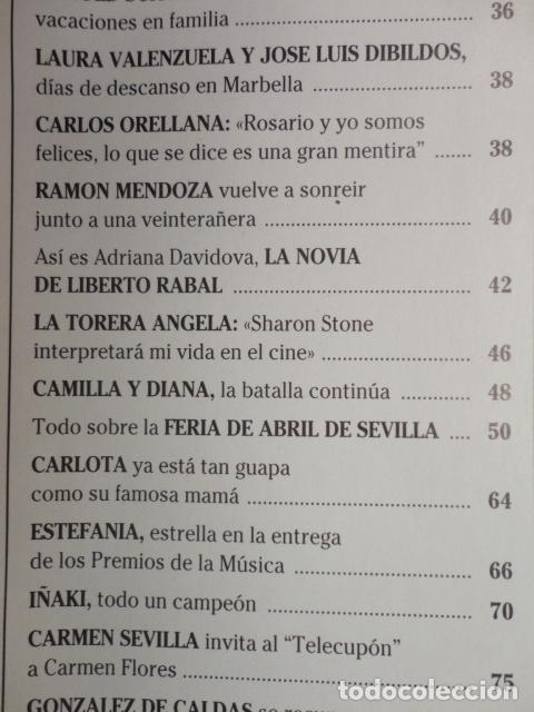 Coleccionismo de Revistas: REVISTA LECTURAS Nº 2352 ,1997 -CAMILA Y DIANA -LOS REYES EN LERIDA -VIRNA LISI -ISABEL PREYSLER - Foto 3 - 69430997