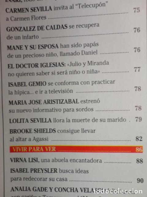 Coleccionismo de Revistas: REVISTA LECTURAS Nº 2352 ,1997 -CAMILA Y DIANA -LOS REYES EN LERIDA -VIRNA LISI -ISABEL PREYSLER - Foto 4 - 69430997
