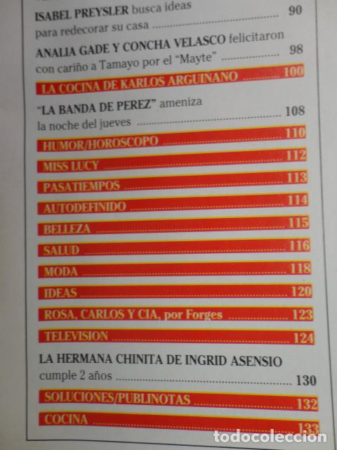 Coleccionismo de Revistas: REVISTA LECTURAS Nº 2352 ,1997 -CAMILA Y DIANA -LOS REYES EN LERIDA -VIRNA LISI -ISABEL PREYSLER - Foto 5 - 69430997