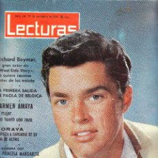 Coleccionismo de Revistas: LECTURAS Nº 606 - 1963 - JOHN F KENNEDY - CARMEN AMAYA - RICHARD BEYMER. Lote 69739821
