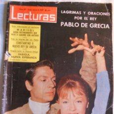 Coleccionismo de Revistas: REVISTA LECTURAS. NUM. 621. 13 MARZO 1964.LAGRIMA Y ORACIONES POR EL REY PABLO DE GRECIA. LEER. Lote 70142721