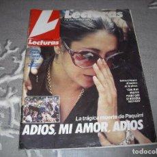 Coleccionismo de Revistas: LECTURAS MUERTE PAQUIRRI ISABEL PANTOJA 12 OCTUBRE DE 1984. Lote 71586467
