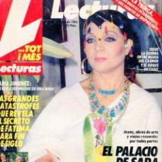 Coleccionismo de Revistas: LECTURAS Nº 1731 AÑO 1985-SARA MONTIEL CASA EN MALLORCA (5 PAGINAS 17 FOTOS)-CELA ALCARRIA. Lote 73163219