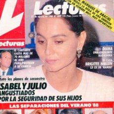 Coleccionismo de Revistas: LECTURAS Nº 1899 AÑO 1988-ISABEL PRESLEY/JULIO IGLESIAS-SERRAT Y CANDELA-MASSIEL-BARBARA REY..... Lote 73414799