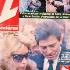 Coleccionismo de Revistas: LECTURAS Nº 1710 AÑO 1985-POSTER LA GATITA SALTARINA-MARIA JIMENEZ/PEPE SANCHO DESTROZADOS. Lote 209634315