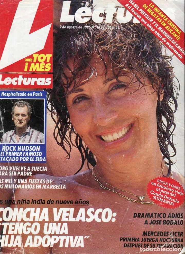 LECTURAS Nº 1738 AÑO 1985-CONCHA VELASCO-ISABEL PRESLEY/MARQUES DE GRIÑON-ROCK HUDSON (Coleccionismo - Revistas y Periódicos Modernos (a partir de 1.940) - Revista Lecturas)