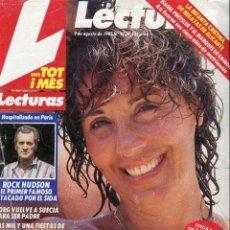 Coleccionismo de Revistas: LECTURAS Nº 1738 AÑO 1985-CONCHA VELASCO-ISABEL PRESLEY/MARQUES DE GRIÑON-ROCK HUDSON. Lote 73416579