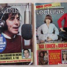 Coleccionismo de Revistas: DOS REVISTAS LECTURAS: JOAN MANUEL SERRAT. Lote 73614159