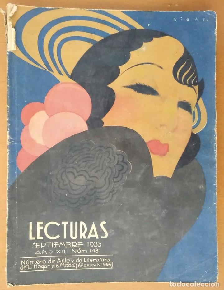 REVISTA LECTURAS SEPTIEMBRE 1933 Nº 148 (Coleccionismo - Revistas y Periódicos Modernos (a partir de 1.940) - Revista Lecturas)