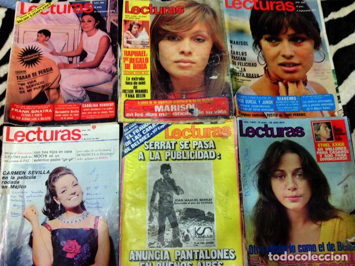 LOTE DE 6 REVISTA - LECTURAS - AÑOS 1967 , 70 Y 72 (Coleccionismo - Revistas y Periódicos Modernos (a partir de 1.940) - Revista Lecturas)