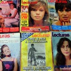 Coleccionismo de Revistas: LOTE DE 6 REVISTA - LECTURAS - AÑOS 1967 , 70 Y 72. Lote 79812797