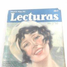Coleccionismo de Revistas: REVISTA LECTURAS. NUM. 143 ABRIL DE 1933. SUMARIO . Lote 82557196