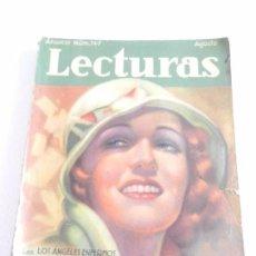 Coleccionismo de Revistas: REVISTA LECTURAS. NUM. 147 AGOSTO DE 1933. SUMARIO . Lote 82559880