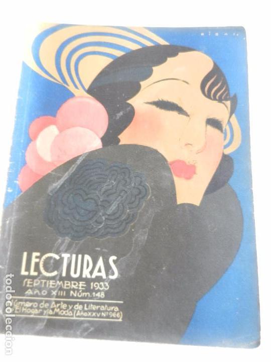 REVISTA LECTURAS. NUM. 148 SEPTIEMBRE 1933. SUMARIO (Coleccionismo - Revistas y Periódicos Modernos (a partir de 1.940) - Revista Lecturas)