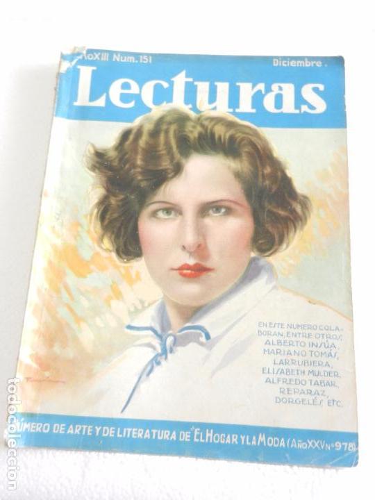 REVISTA LECTURAS. NUM. 151 DICIEMBRE 1933. SUMARIO (Coleccionismo - Revistas y Periódicos Modernos (a partir de 1.940) - Revista Lecturas)