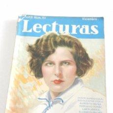 Coleccionismo de Revistas: REVISTA LECTURAS. NUM. 151 DICIEMBRE 1933. SUMARIO . Lote 82562804