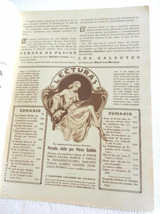 Coleccionismo de Revistas: REVISTA LECTURAS. NUM. 151 DICIEMBRE 1933. SUMARIO - Foto 2 - 82562804