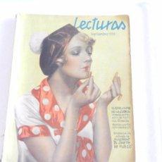 Coleccionismo de Revistas: REVISTA LECTURAS. NUM. 136 SEPTIEMBRE DE 1932. SUMARIO . Lote 82575116