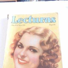 Coleccionismo de Revistas: REVISTA LECTURAS. NUM. 159 AGOSTO DE 1934. SUMARIO. Lote 82577808