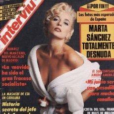 Coleccionismo de Revistas: REVISTA INTERVIU Nº 788 AÑO 1991. PORTADA: MARTA SANCHEZ TOTALMENTE DESNUDA./ 14. Lote 110102759