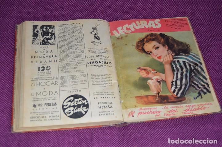 ANTIGUO TOMO CON 6 NÚMEROS DE LA REVISTA LECTURAS - ENERO A JUNIO DE 1947 - ¡¡¡HAZME UNA OFERTA!!! (Coleccionismo - Revistas y Periódicos Modernos (a partir de 1.940) - Revista Lecturas)