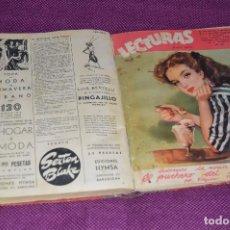 Coleccionismo de Revistas: ANTIGUO TOMO CON 6 NÚMEROS DE LA REVISTA LECTURAS - ENERO A JUNIO DE 1947 - ¡¡¡HAZME UNA OFERTA!!!. Lote 86392348